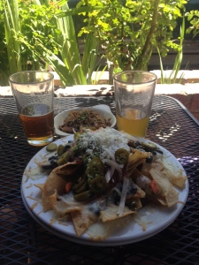 Solvang Nachos with some signature beers